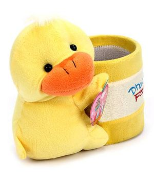 Fab N Funky Plush Pen Stand Yellow - Duck Design