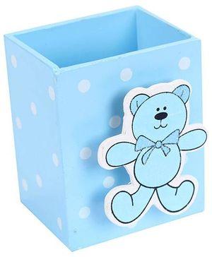 Fab N Funky Pen Stand Teddy Bear Design - Blue