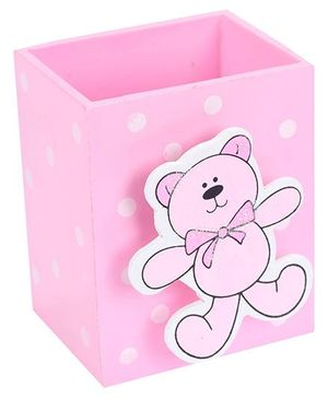 Fab N Funky Pen Stand Teddy Bear Design - Pink
