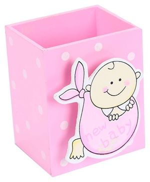 Fab N Funky Pen Stand New Baby Design - Pink