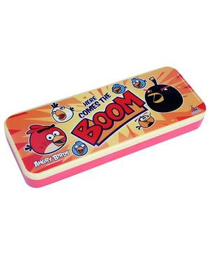 Angry Birds Double Decker Pencil Box - Red