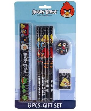 Angry Birds 8 Pieces Stationery Set - Multi Colour