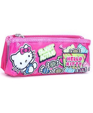 Hello Kitty Double Zip Pouch - Pink