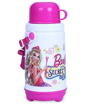Barbie Water Bottle Insulated With Cup - 400 ml