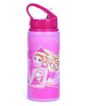 Barbie Sipper Water Bottle With Pull Top Pink - 600 ml
