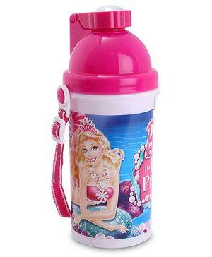 Barbie Push Button Water Bottle - 500 ml
