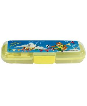 Fab N Funky Plastic Pencil Box Yellow - Ball Print