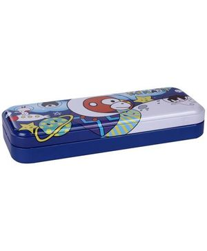 Fab N Funky Pencil Box Multi Print - Blue