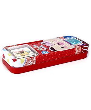 Fab N Funky Pencil Box With Watch - Red