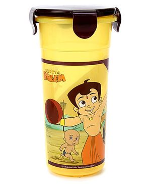 Chhota Bheem Tumbler With Lid Yellow And Brown - 500 ml
