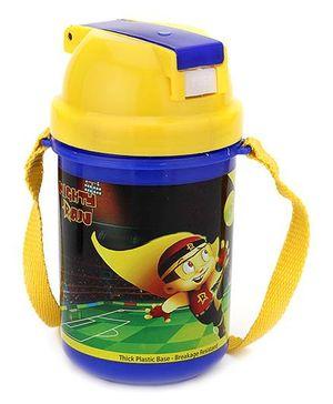 Chhota Bheem Water Bottle Yellow And Blue - 500 ml