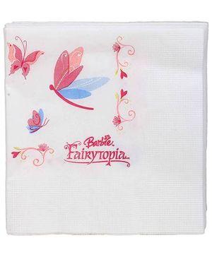 Barbie Fairytopia Napkins White - 16 Pieces