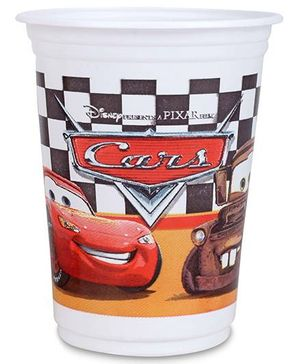 Disney Pixar Cars Cups Set Of 8 - 8.5 cm