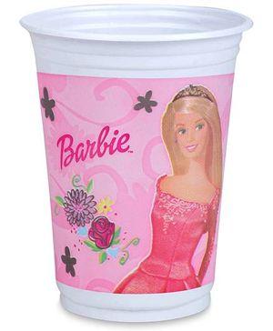 Barbie Plastic Cups Set Of 8 - 8.5 cm