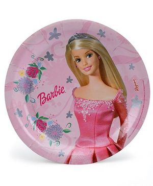 Barbie Paper Plates Pink - Pack Of 8