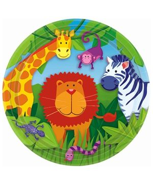 Party In A Box Amscan Jungle Animal Paper Plate - Set of 8