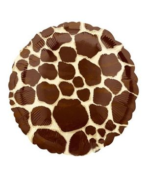 Party In A Box Anagram Kiwi Giraffe Standard XL Balloon - Brown
