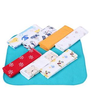 Ben Benny Wash Cloth Multi Colour - 8 Pieces