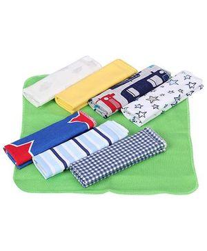 Ben Benny Wash Cloth Multi Colour - 8 Pieces