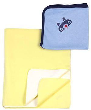 bio kid Zero Wet Mat With Napkin Bear Print - Set of 2