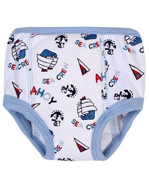 bio kid Potty Training Briefs Multi Print White - Pack of 2