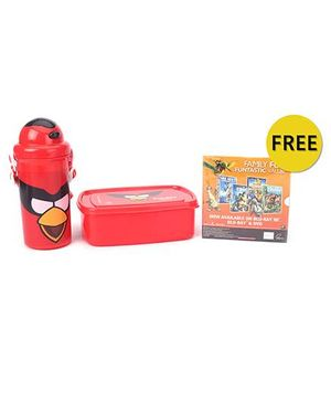 Angry Birds Lunch Box And Bottle Combo Kit - Red