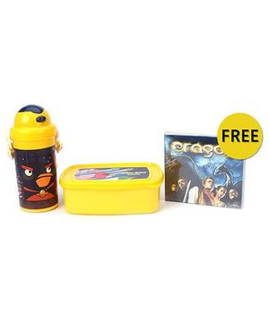Angry Birds Lunch Box And Bottle Combo Kit - Yellow