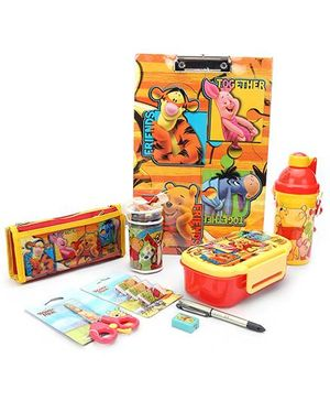 Winnie The Pooh School Kit Yellow - Pack Of 8