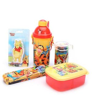 Winnie The Pooh School Kit Red And Yellow - Pack Of 5
