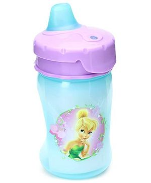 Disney International Fairies Soft Spout Sippy Purple And Aqua - 10 Oz