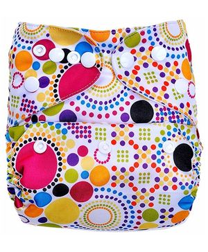 Bumberry Pocket Cloth Diaper With One Microfiber Insert - Retro Print