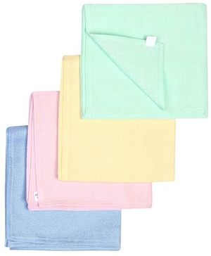 Babyhug Cotton Square Nappy Set Of 4 - Solid Colors