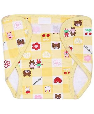Babyhug Nappy With Velcro Closure Mini Flower Print Single Piece - Assorted Colors