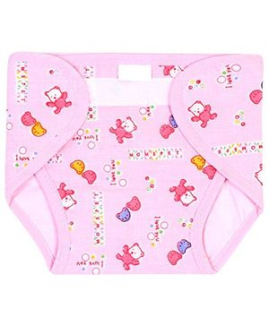 Babyhug Waterproof Nappy Extra Large Teddy Print Single Piece - Assorted Colors