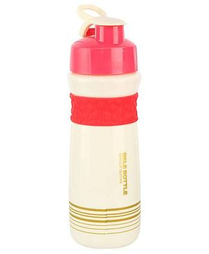 Sipper Water Bottle Red And Cream - 450 ml