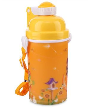 Water Bottle Floral Print 350 ml - Yellow