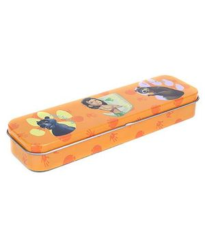 Disney Jungle Book Tin Pencil Case Thin - Orange
