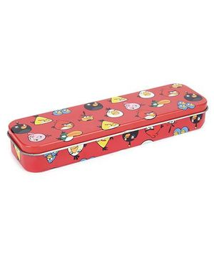 Angry Birds Tin Pencil Case Thin - Red