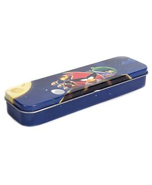 Angry Birds Tin Pencil Case Thin - Blue