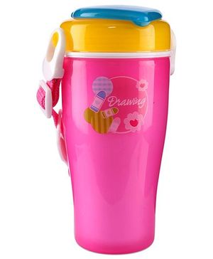 Dual Color Sipper Bottle Pink And Yellow - 320 ml