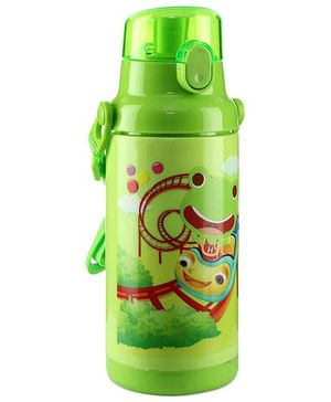 Sipper Bottle Frog Print Green - 350 ml