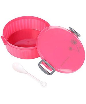 Lunch Box With Spoon  - Pink