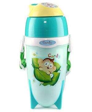 Sipper Bottle Cardy Print Aqua - 450 ml
