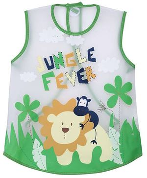 1st Step PVC Plastic Wearable Feeder Bib Jungle Fever Print - Green
