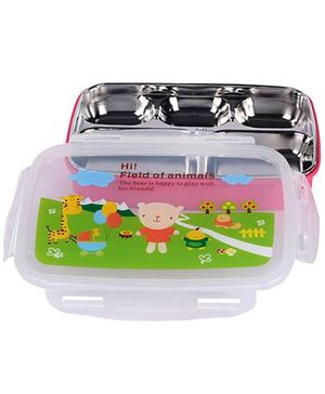 Lunch Box Animals Print - Pink