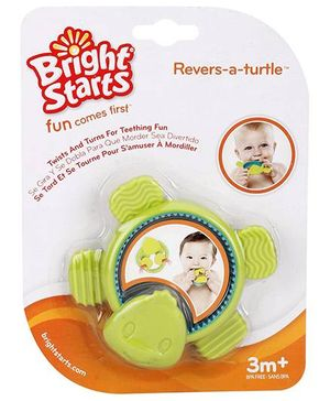Bright Starts Revers-a-turtle Teether - Green