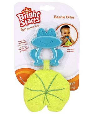 Bright Starts Beanis Bits Frog Shaped Teether - Blue And Green