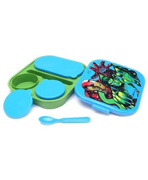 Avengers Theme Lunch Box - Blue And Green