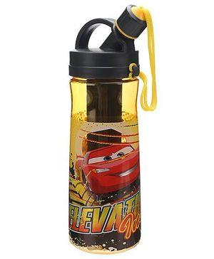 Disney Pixar Cars Water Bottle Black And Yellow - 600 ml
