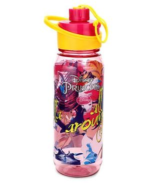 Disney Princess Printed Water Bottle - 650 ml